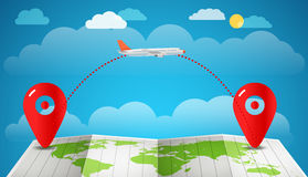 Vacation travelling concept. Vector travel illustration Stock Photography