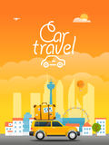 Vacation travelling concept. Vector travel illustration Royalty Free Stock Photos
