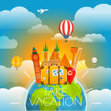 Vacation travelling concept. Vector travel illustration Stock Image