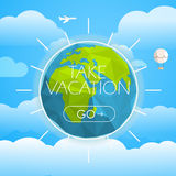 Vacation travelling concept. Vector travel illustration Stock Photos