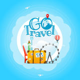 Vacation travelling concept. Vector illustration Royalty Free Stock Photo
