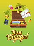 Vacation trip to other countries. Travel world. Flight . Tourism. Colorful vector banner.  Stock Photography