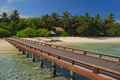Vacation on a tropical Island Paradise Stock Image