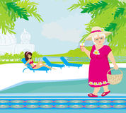 Vacation in a tropical resort Stock Photo