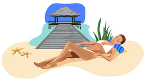 Vacation in the Tropics Royalty Free Stock Photography