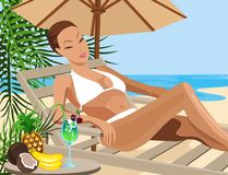 Vacation in the Tropics Royalty Free Stock Photo