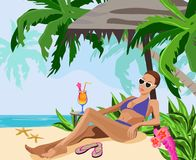 Vacation in the Tropics Stock Photography