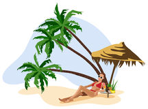 Vacation in the Tropics Stock Image
