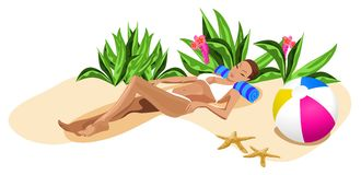 Vacation in the Tropics Royalty Free Stock Image