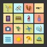 Vacation UI layout icons, squared shadows Royalty Free Stock Images