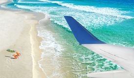 Vacation view from plane Stock Photo