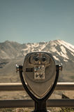 Vacation Viewfinder at Mt St Helens Stock Photography