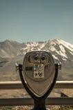 Vacation Viewfinder at Mt St Helens. A closeup of a viewfinder overlooking Mt St Helens stock photography
