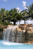 Vacation Village waterfall. In Fort Lauderdale Florida Royalty Free Stock Photography