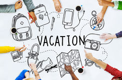 Vacation Wanderlust Travel Trip Concept Royalty Free Stock Images