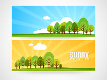Vacation web header concept. Stock Photography
