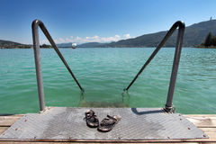 Vacation at Woerthersee, Austria Stock Photo