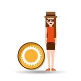 Vacation woman sunny summer Stock Photos