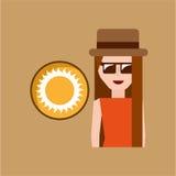 Vacation woman sunny summer Stock Image