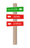 Vacation wooden sign. Royalty Free Stock Images