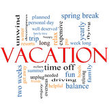 Vacation Word Cloud Concept Royalty Free Stock Image
