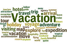 Vacation, word cloud concept 6 Stock Image