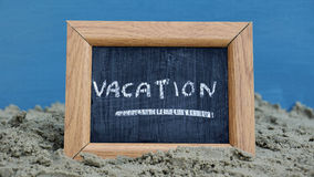 Vacation written Stock Photography