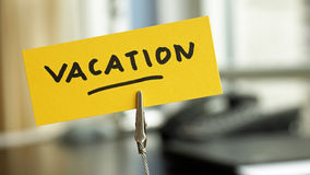 Vacation written Royalty Free Stock Images