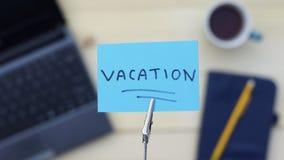 Vacation written Stock Photos