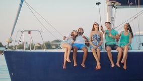 Vacation on a yacht. stock footage