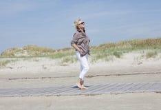 Vacationer away on beach Royalty Free Stock Photos