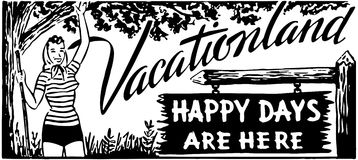 Vacationland 2 Royalty Free Stock Image