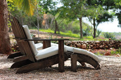 Vacations. View of chair in vacation style Royalty Free Stock Photography