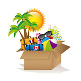 Vacations box Royalty Free Stock Photography