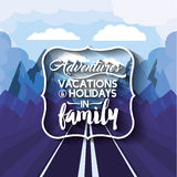 Vacations in family  design Royalty Free Stock Images