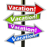 Vacations or holidays Royalty Free Stock Photos