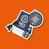 Vacations icon design, vector illustration Stock Photos