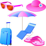 Vacations icon set. Isolated on white Royalty Free Stock Photo