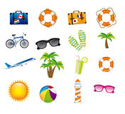 Vacations icons Royalty Free Stock Photography