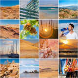 Vacations in Israel - collage Stock Photos