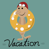 Vacations in a lifesaver Stock Images