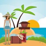Vacations paradise island travel Stock Image
