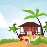 Vacations paradise island travel Royalty Free Stock Photos