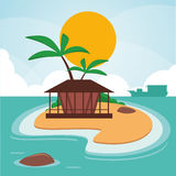 Vacations paradise island travel Royalty Free Stock Image