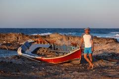 Vacations on Santorini Royalty Free Stock Photo