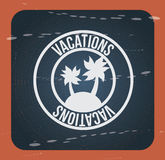 Vacations. Seal over vintage background vector illustration Stock Photography
