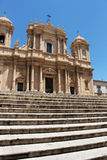 Vacations in sicily, baroque chatedral of noto Stock Photos