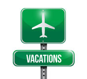 Vacations sign illustration design Royalty Free Stock Photography