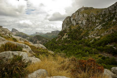 Vacations at Spain: Beautyful Rocky Landscape Royalty Free Stock Photography