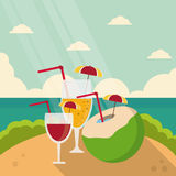 Vacations and summer design Stock Photos